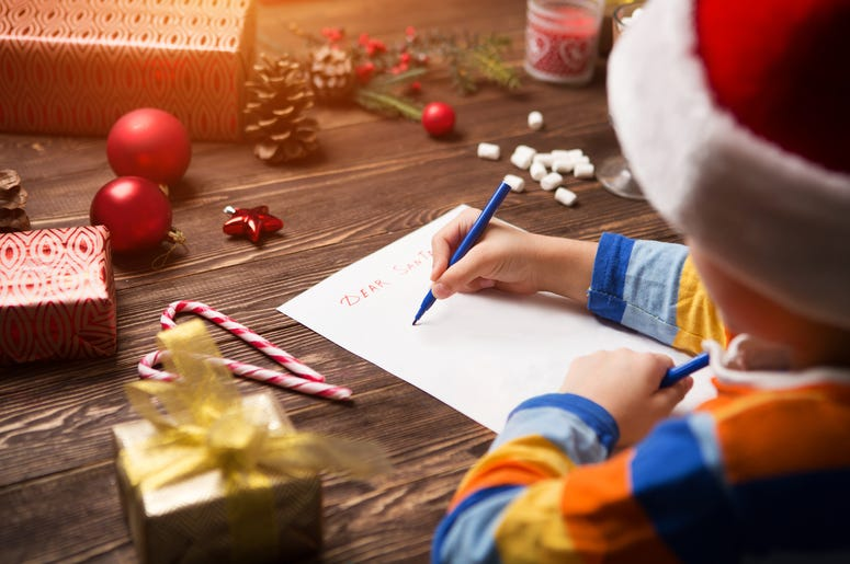 Kid writing letter to Santa