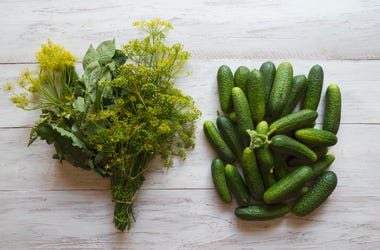 Dill, Flowers, and Cucumbers
