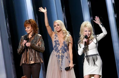 Reba McEntire, Carrie Underwood, and Dolly Parton