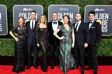 Samantha Bryant, Colin Hanks, Rita Wilson, Tom Hanks, Elizabeth Ann Hanks, Chet Hanks, and Truman Theodore Hanks