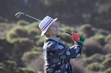 Bill Murray playing golf