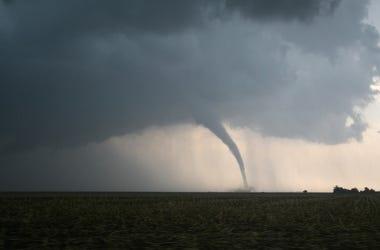 Tornado, Field, Fence, Storm, Weather, Farm