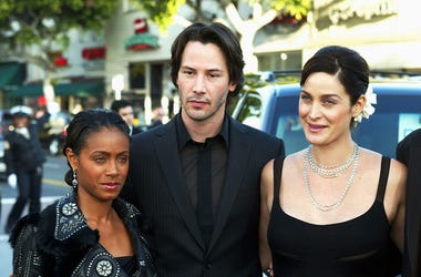 Jada Pinkett Smith, Keanu Reeves and Carrie-Anne Moss