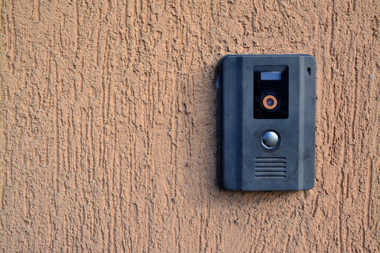 Doorbell, Camera, Intercom, Wall