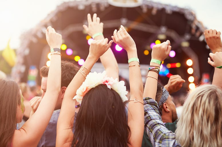 Music Festival, Crowd, Audience, People, Music, Band, Stage, Hands in the Air