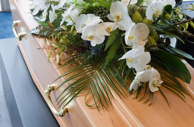 Coffin, Flower Arrangement, Morgue