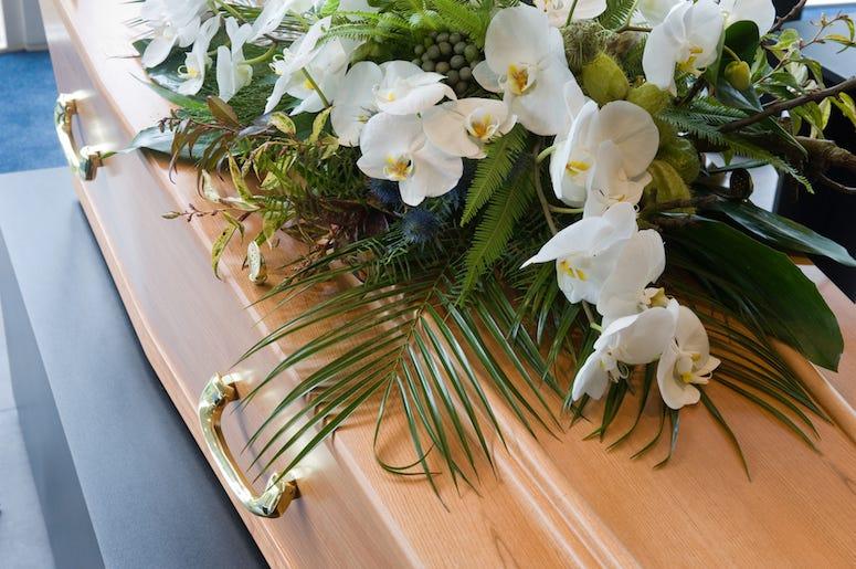 Coffin, Flower Arrangement, Morgue
