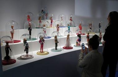 Barbie's on display