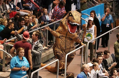 Inflatable T-Rex suit