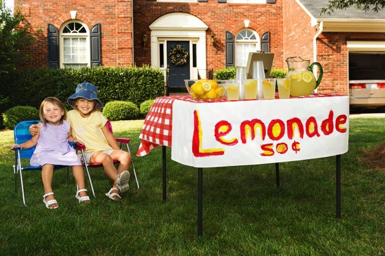 Kids at a lemonade stand