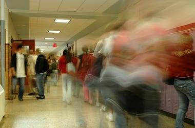 High School, Hallway, Students, Blurry, Motion