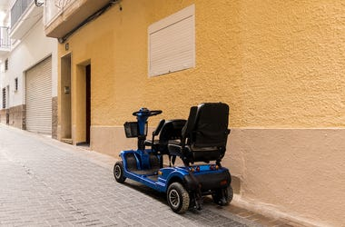 Electric Mobility Scooter, Street