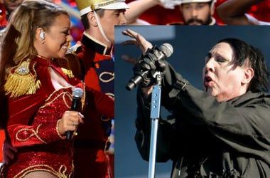 Photo Credit: Anthony Behar (Mariah Carey) & Katja Ogrin/EMPICS Entertainment (Marilyn Manson)
