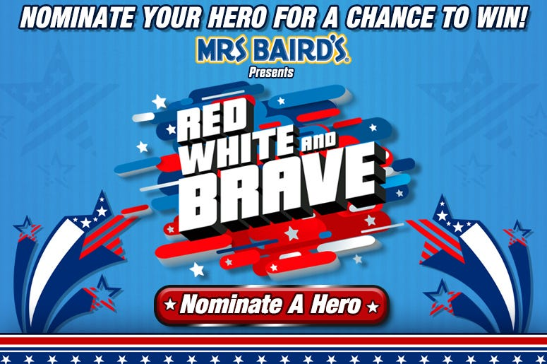 RED WHITE AND BRAVE: NOMINATE A HERO