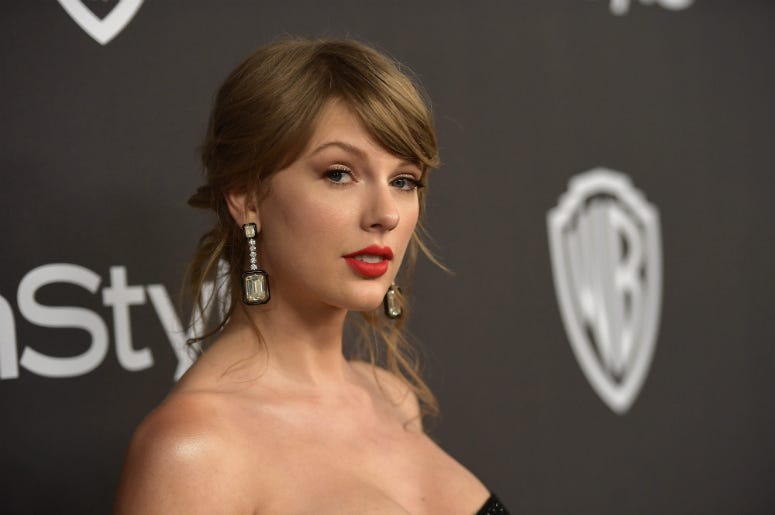 Taylor Swift attends the 2019 InStyle and Warner Bros. 76th Annual Golden Globe Awards Post-Party