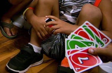 UNO, Card Game, Kids, Playing