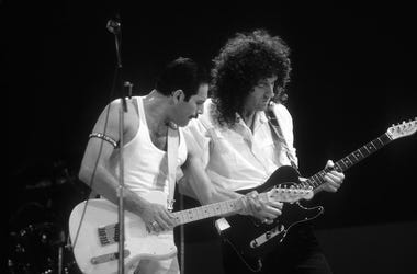 Freddie Mercury, Brian May, Queen, Live Aid, Black and White