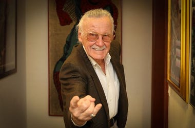 Stan Lee, MegaCon, Spider Man Pose, Suit, Smile