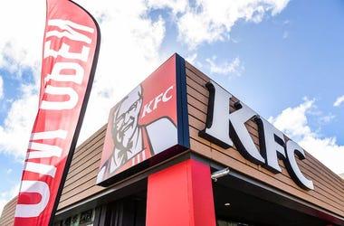 KFC, Restaurant, Logo, Storefront, Barrigada, 2018