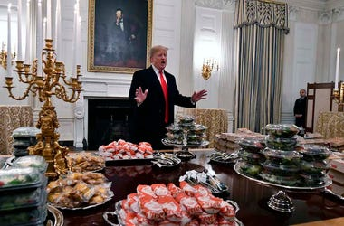 Donald Trump, Media, State Dining Room, White House, Fast Food