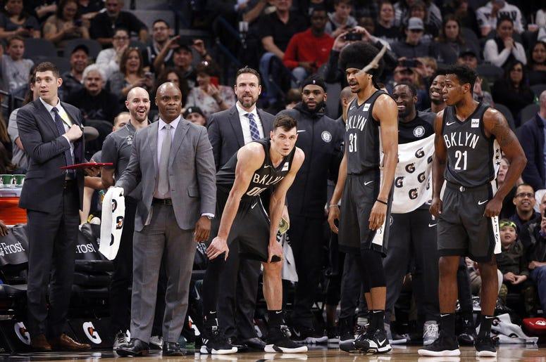 Brooklyn Nets looking at bats in San Antonio