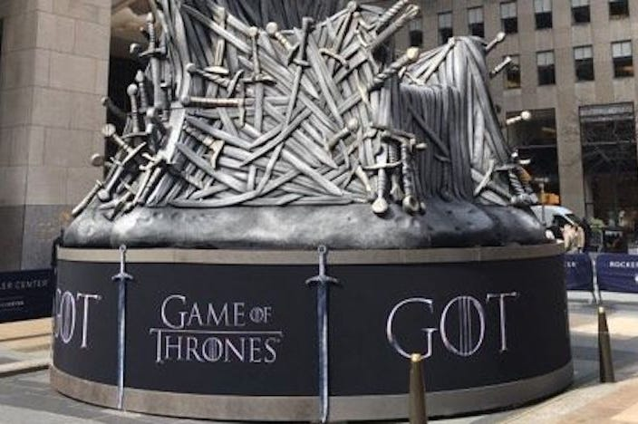 Game of Thrones, Logo, Iron Throne, Replica, Rockefeller Center