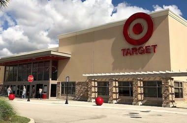 Target, Store, Logo, Storefront, Sunny, Blue Sky