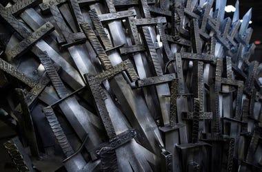 Game of Thrones, Iron Throne, Replica, Close Up, Swords