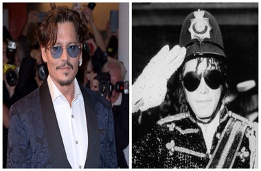 Johnny Depp (Left), Michael Jackson (Right)