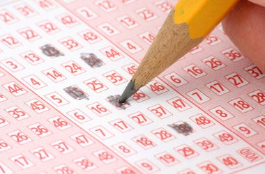 Lottery, Ticket, Pencil, Close Up