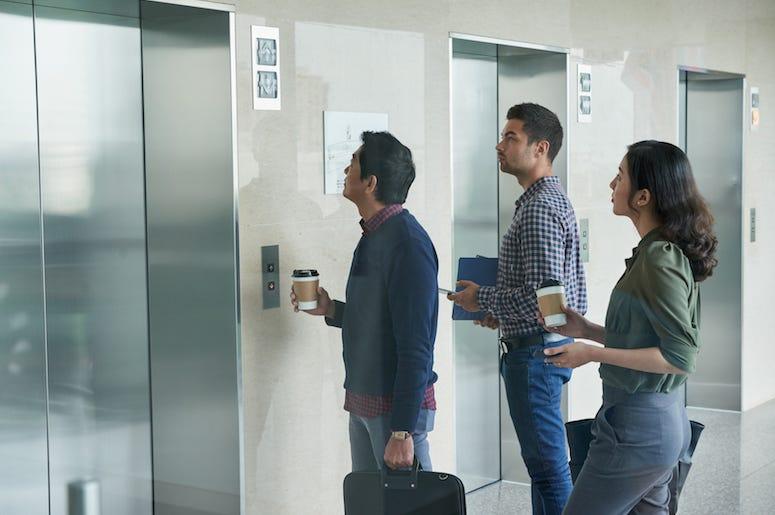 Business People, Waiting, Elevator