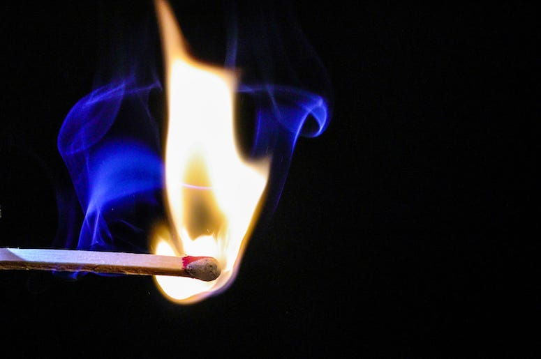 Lit, Match, Fire, Smoke
