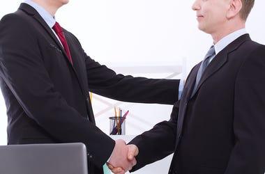 Work, Business, Handshake