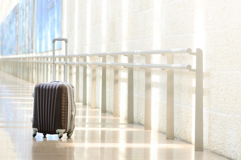 Airport, Luggage, Rolling, Suitcase