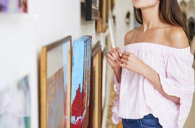 Woman, Art Gallery, Paintings, Museum