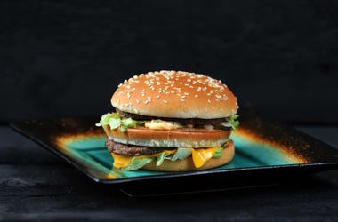 Big Mac, McDonald's, Hamburger, Black Background