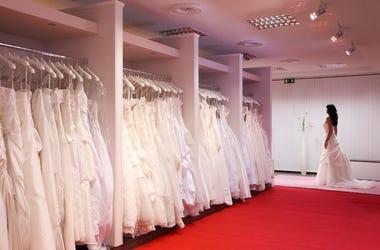 Bridal Shop, Wedding Dress, Bride, Red Floor