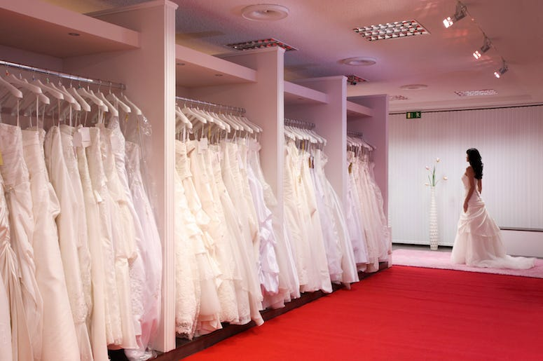 Bridal Shop, Wedding Dress, Bride, Red Floor