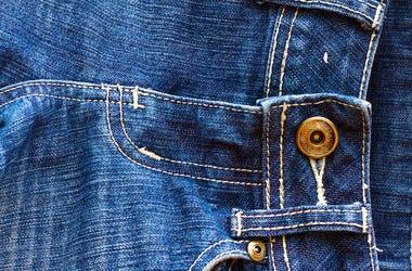 Blue Jeans, Denim, Button