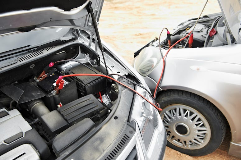 Car, Dead Battery, Jumpstart