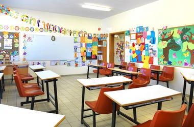 Elementary, School, Empty, Classroom