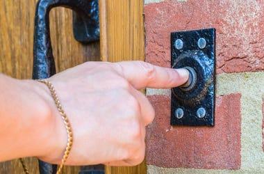 Doorbell, Push, Home, Finger