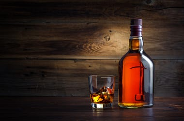 Whiskey, Bottle, Glass
