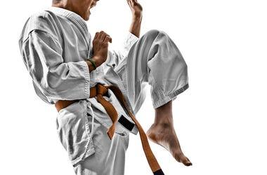 Karate, Teenager, Gi, Knee, Strike, Pose