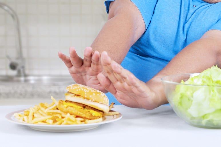 Hamburger, Food, No Thank You, Refuse, Push Away