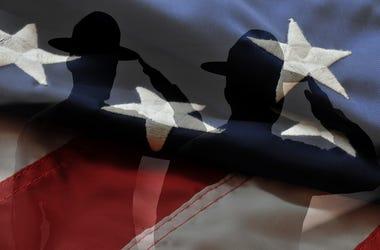 Marines, Flag, Salute, America