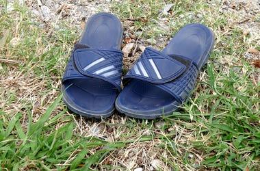 Slides, Sandals, Grass