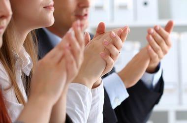 Men, Women, Business Seminar, Clapping, Hands