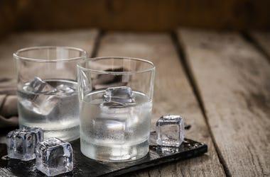 Vodka, Glass, Drink, Ice