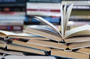 Library, Books, Open Book